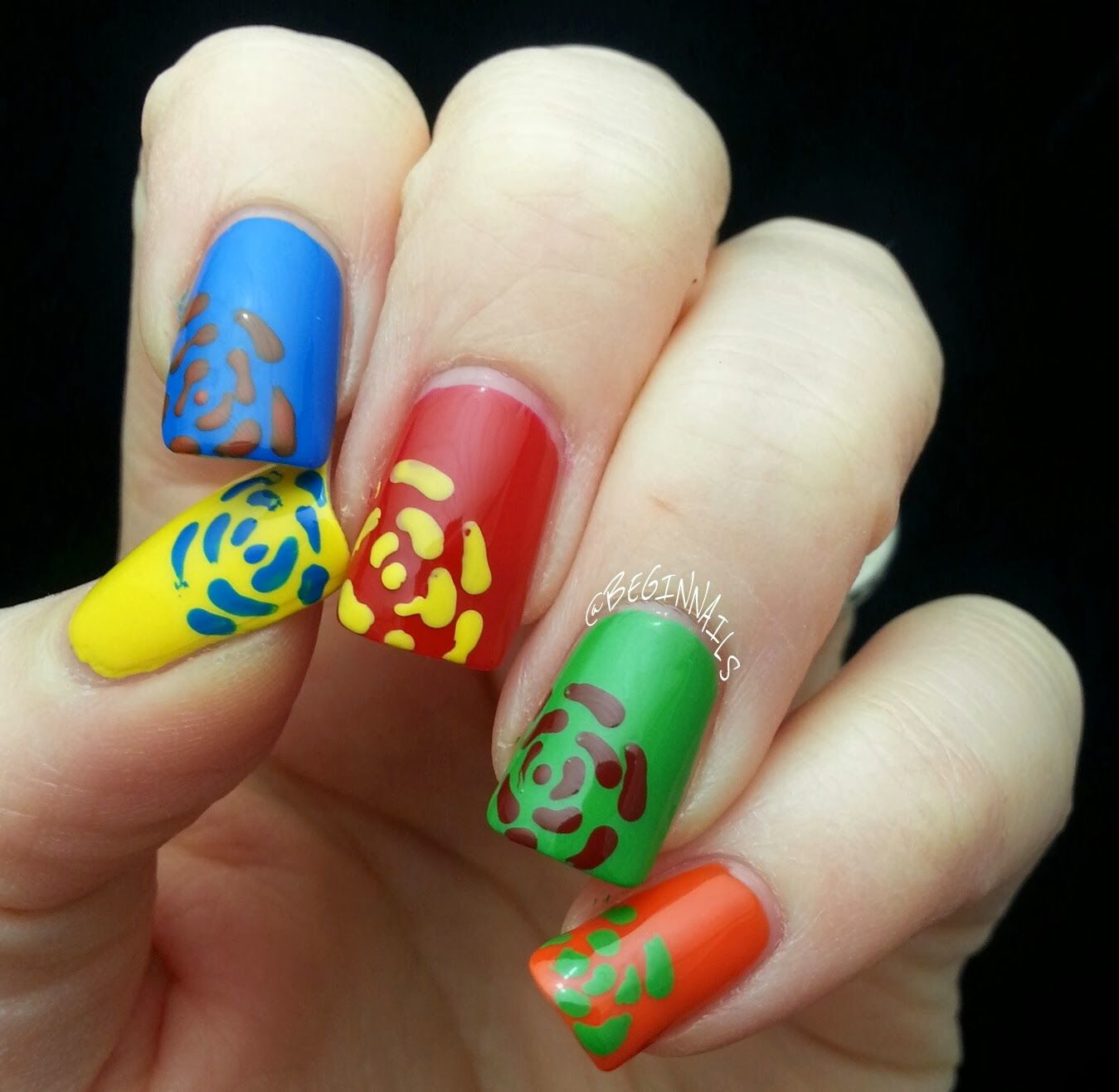 Piggieluv Freehand Stairway To Heaven Nail Art: Nails, Nail Art, Floral Art
