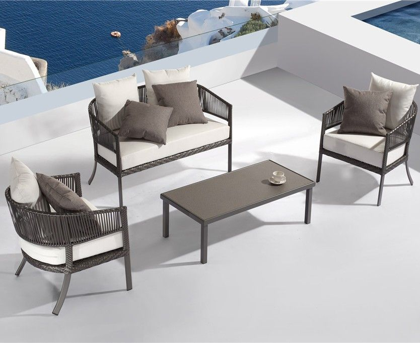 ibiza wicker 4pc lounge set - outdoor