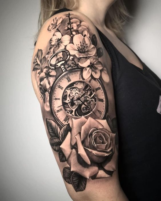 sleeve tattoos, Sleeve Tattoos for women, unique sleeve tattoos, flower sleeve t…