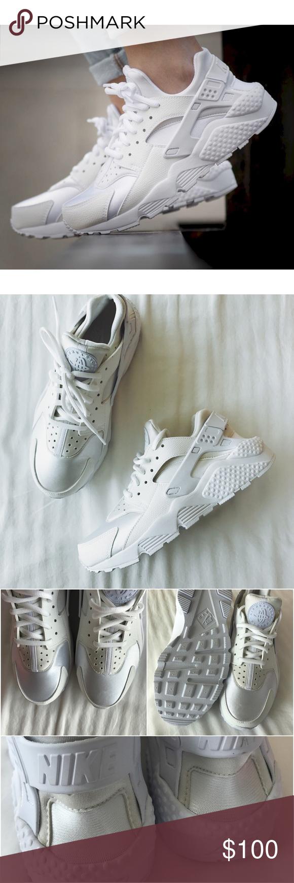 cd20fed2a7ec Nike Triple White Air Huarache Sneakers •White Nike Air Huarache sneakers  •Women s size 8