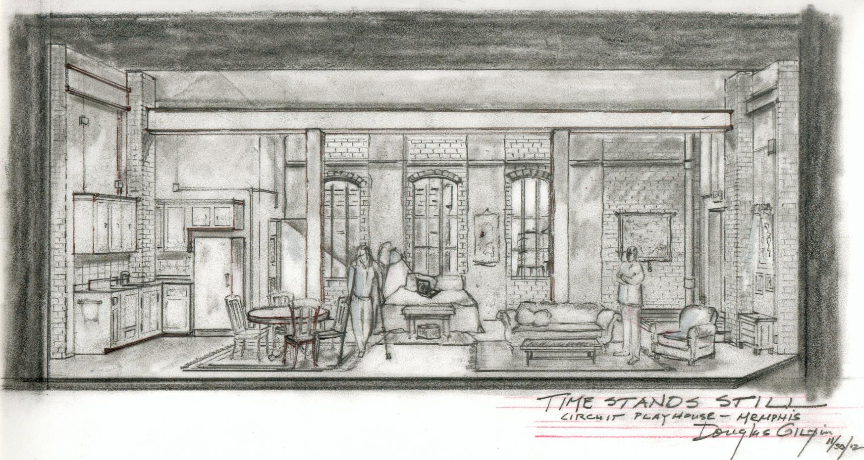 Stand Still Designs : Prelim sketch for time stands still at memphis circuit