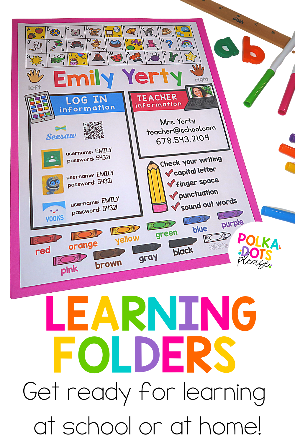 Pencil Box Name Tags And Learning Tools Bundle Distance Learning In 2020 Distance Learning Kindergarten School Supplies Preschool Supplies