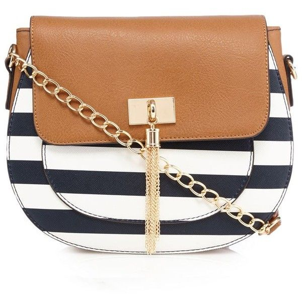 Call It Spring Navy Return Striped Cross Body Bag 35