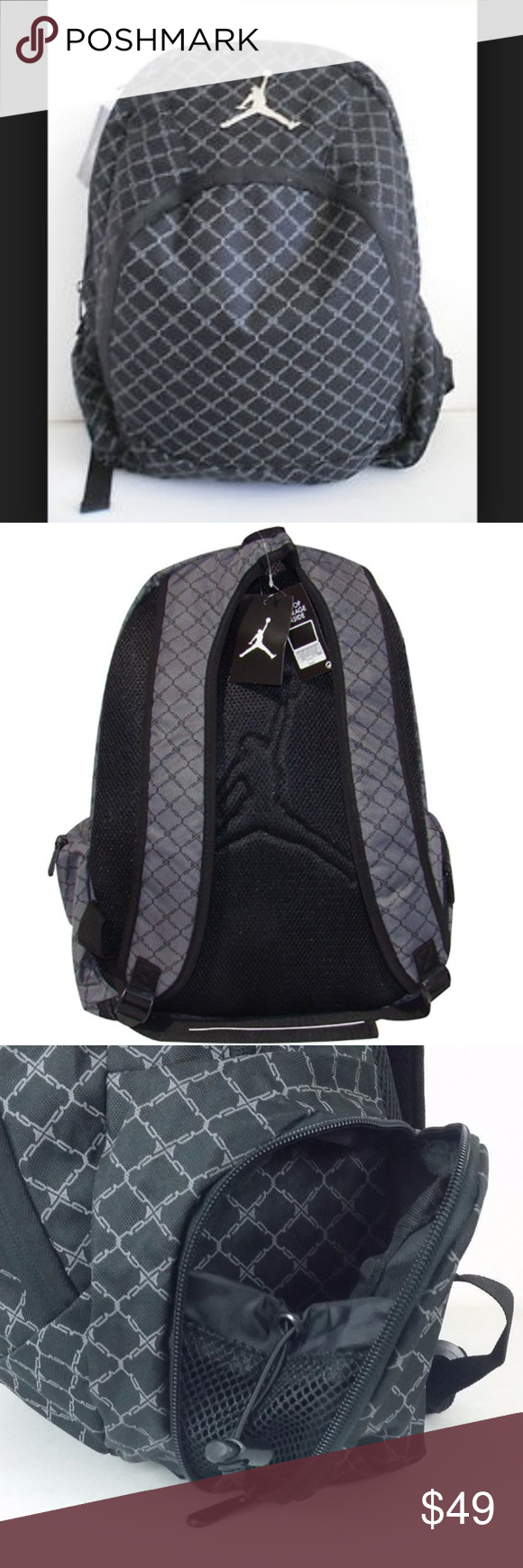 bba24001b2a2b2 Nike Jordan Graphite Backpack Nike Jordan Graphite Backpack 9A1115-783 Laptop  Sleeve Protection Audio
