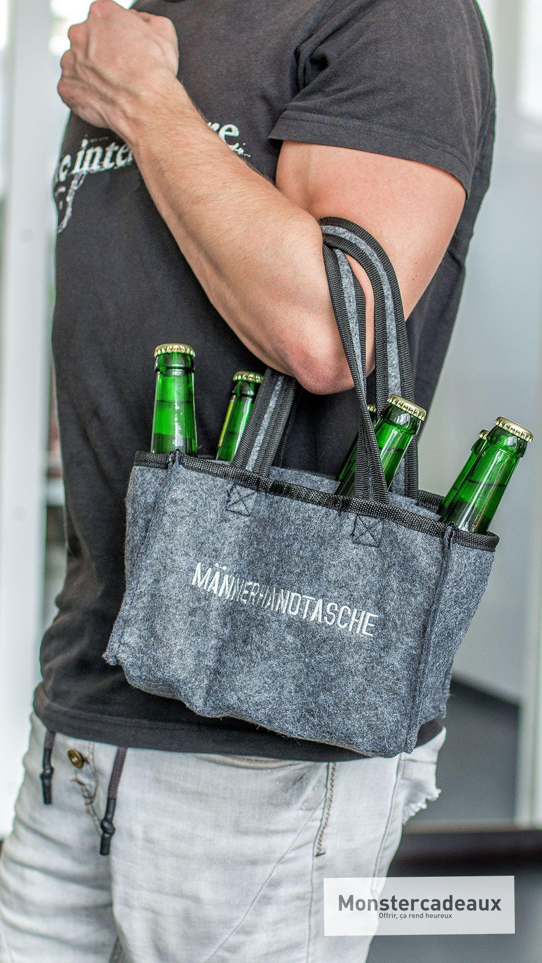 Bierträger - die Männerhandtasche aus Filz