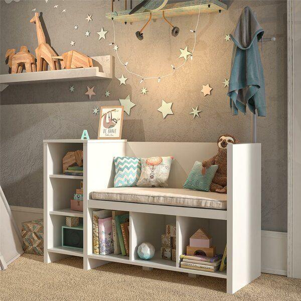 White Torney Kid Toy Storage Bench