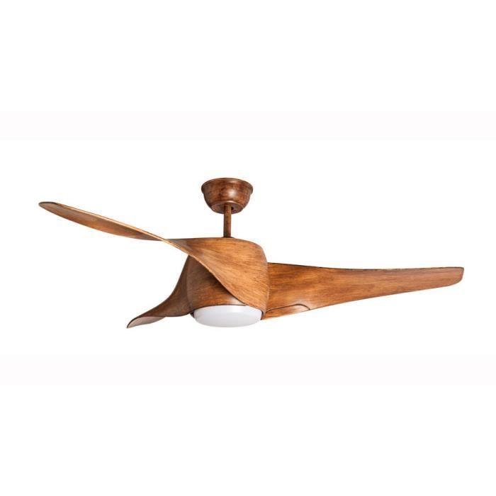 ventilateur de plafond ventilateur de plafond desgn 127 cm avec lampe led t l commande. Black Bedroom Furniture Sets. Home Design Ideas
