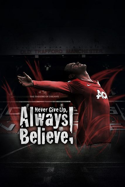 Never Give Up, Always Believe! iPhone Wallpaper by tomoakin, via Flickr