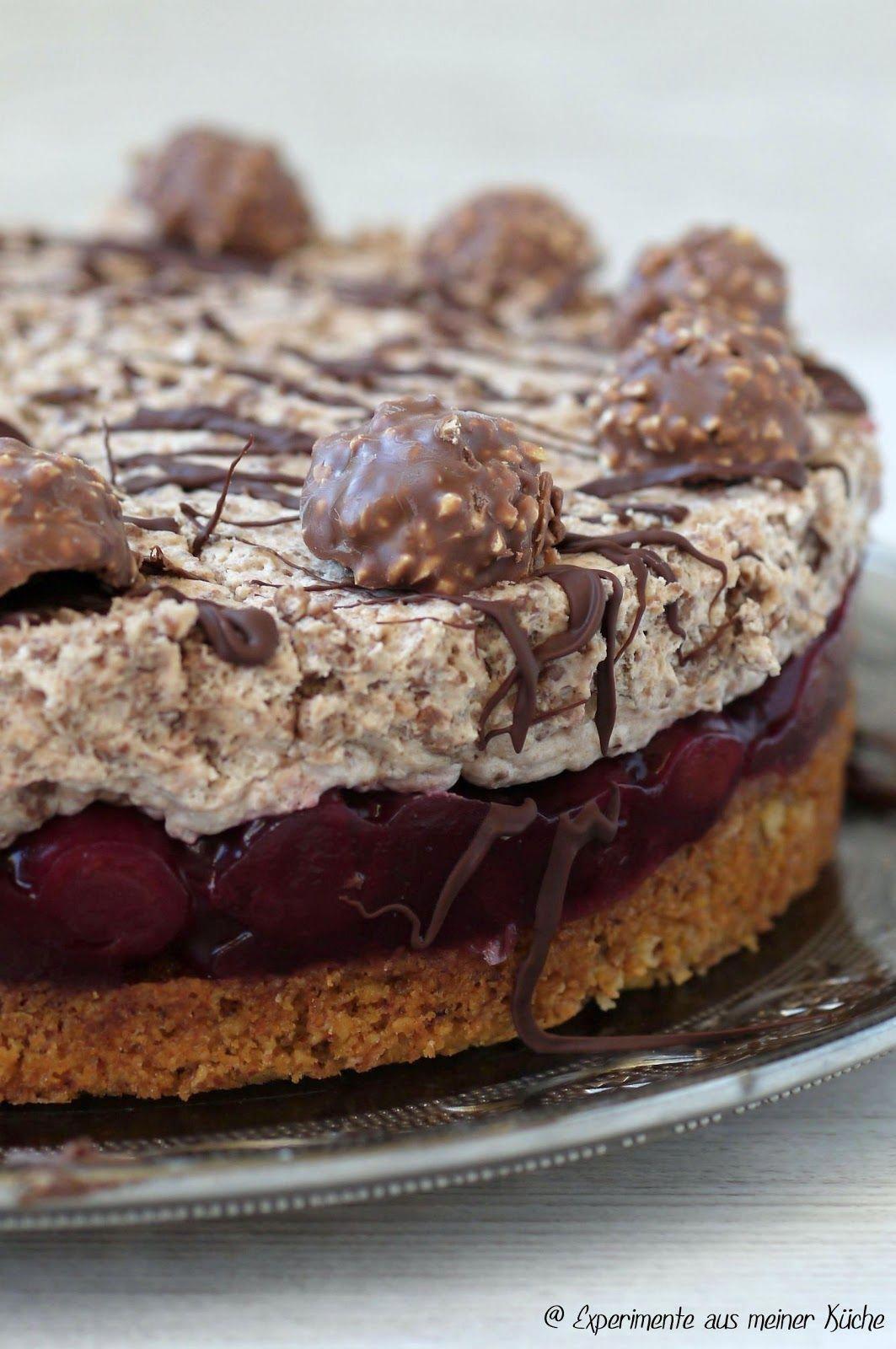 Experimente Aus Meiner Kuche Rocher Kirsch Torte Cherrycake In 2020 Almond Cakes Yummy Cakes Savoury Cake