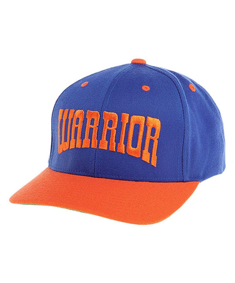 Look at this #zulilyfind! Warrior Blue & Orange Frontier Curved Brim Baseball Cap by Warrior #zulilyfinds