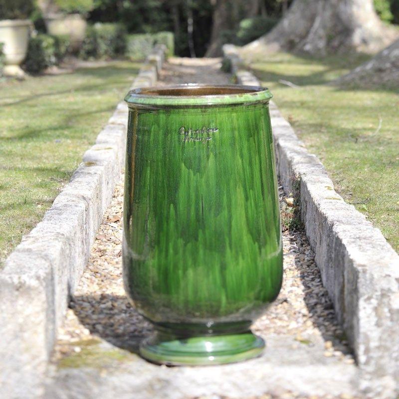 jarre huile maill tradition vert poterie de la madeleine anduze poterie de la madeleine. Black Bedroom Furniture Sets. Home Design Ideas