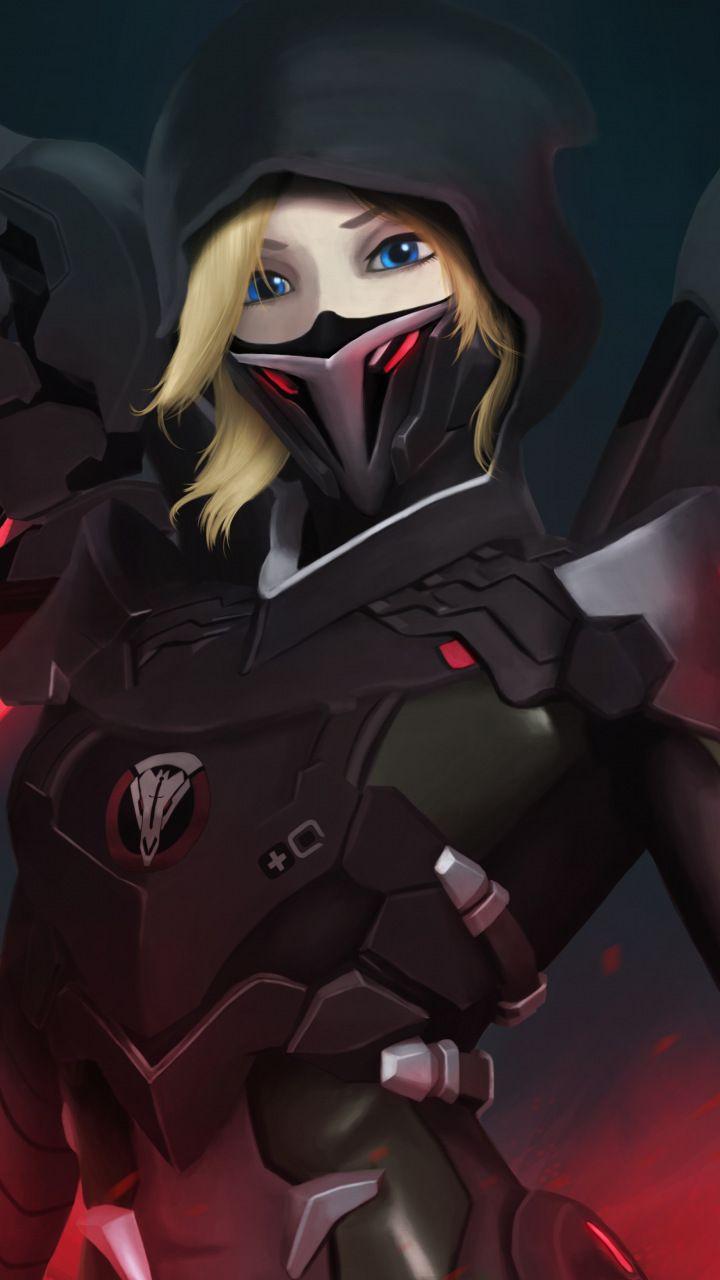Mercy Overwatch Mask Red Wings Overwatch En 2019 Juegos