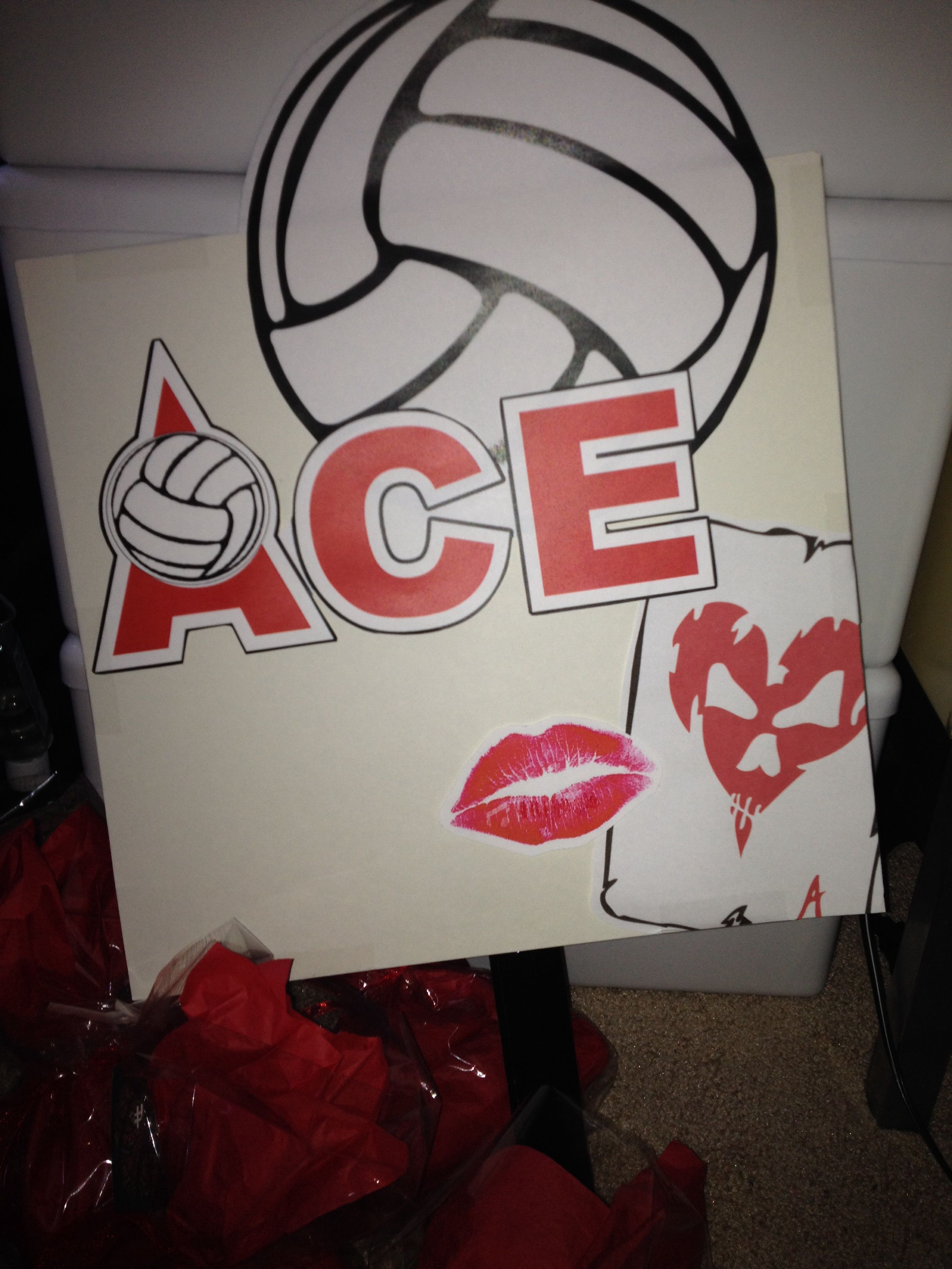 Ace Signs Made For All The Parents To Cheer At The Club Volleyball Games Poster Board With Paint St Volleyball Games Volleyball Posters Volleyball Decorations