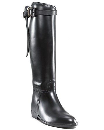 An elegant riding boot with belted detail from Burberry.   Rubber upper,  fabric lining, rubber sole   Made in Italy   Fits true to size, order your  normal ... ee4779bd866