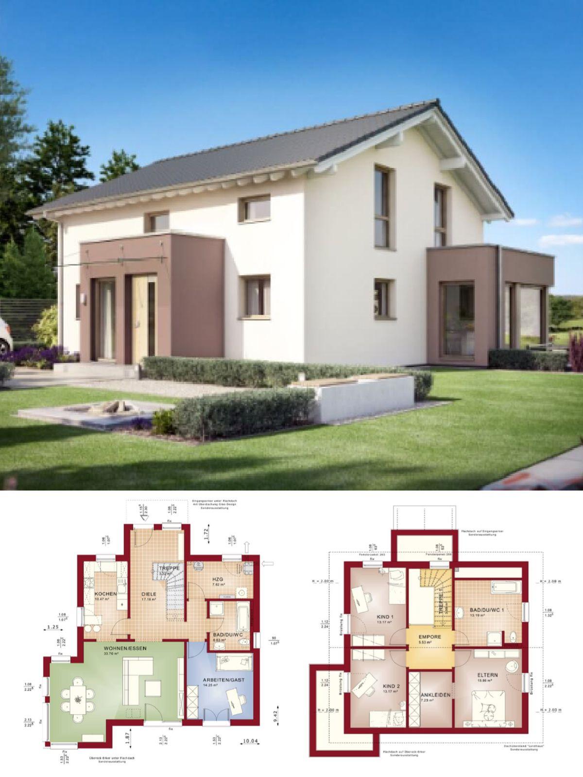 Modernes Einfamilienhaus mit Satteldach und Erker Anbau