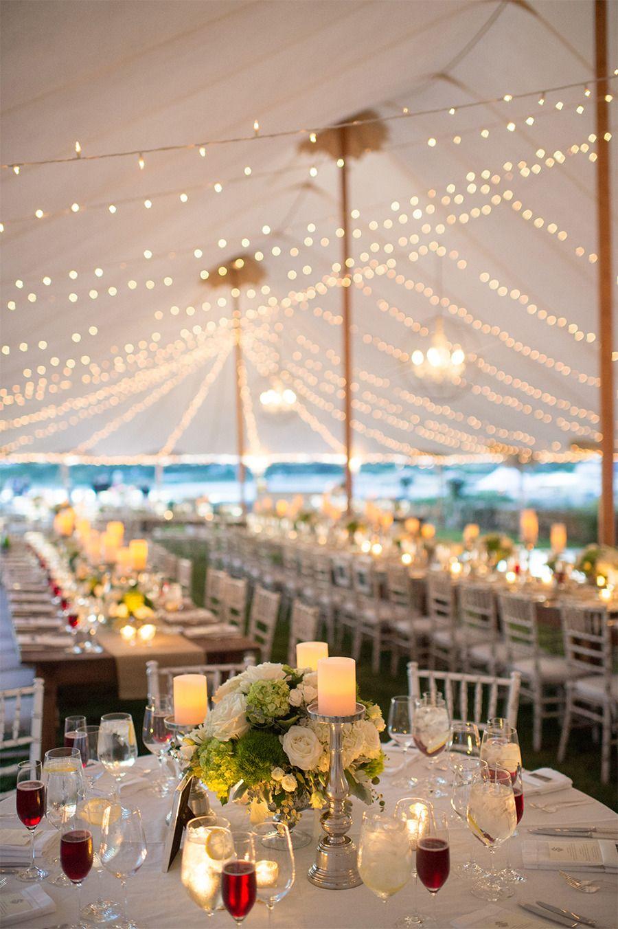 Elegant Newport Estate Wedding Wedding tent decorations