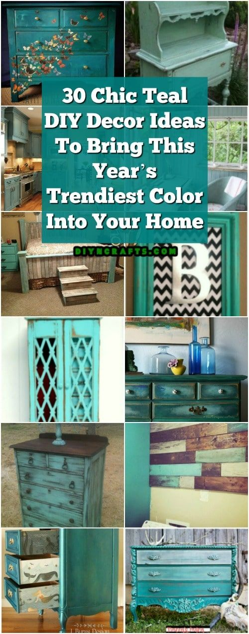 Photo of 30 Chic Teal DIY Decor Ideas To Bring This Year's Trendiest Color Into Your Home