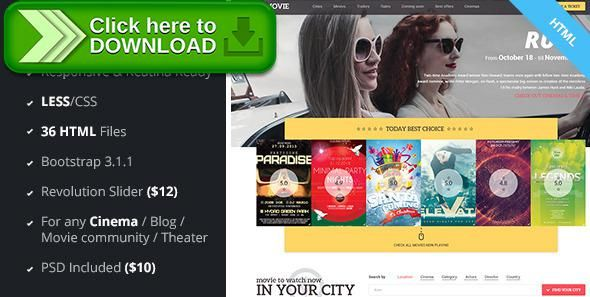 Free Nulled AMovie  CinemaMovie Html Less Template Download