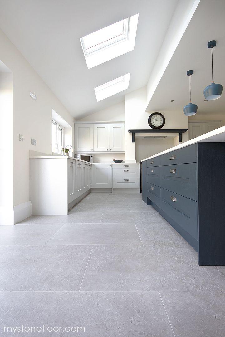 Dove Grey Stone Effect Porcelain Tiles Porcelain Tiles Stone Tiles Kitchen Grey Kitchen Tiles Grey Tile Kitchen Floor