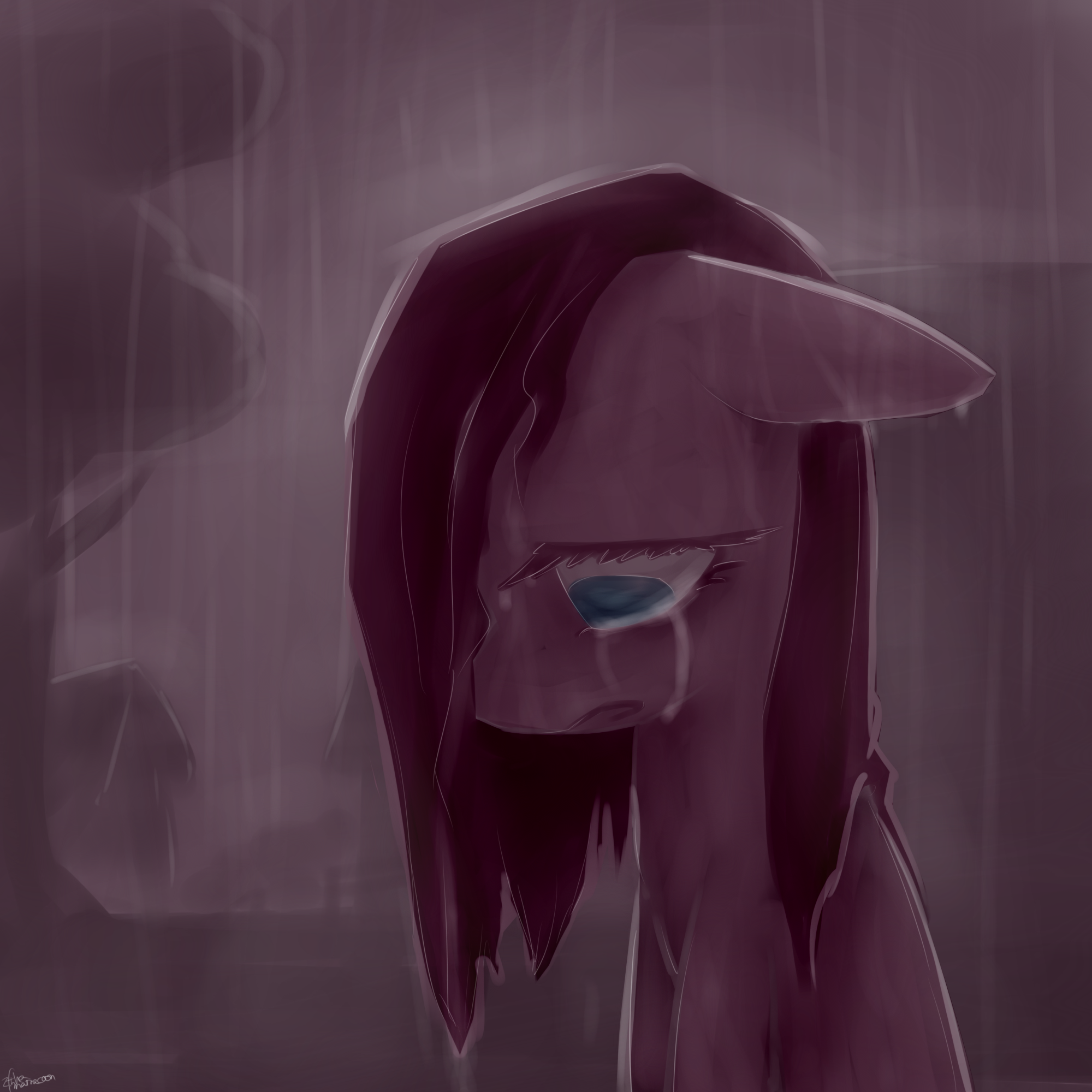 Pinkamena Cry By Ifthemainecoon Deviantart Com On