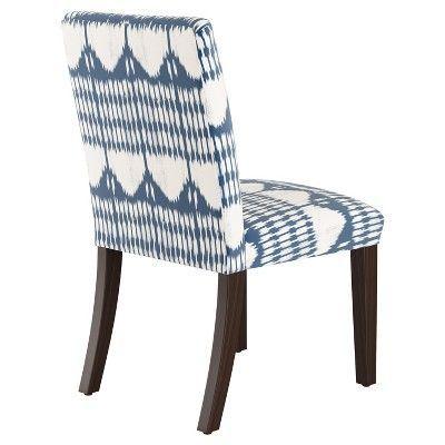 Parsons Dining Chair Tonal Blue Ikat Threshold Blue