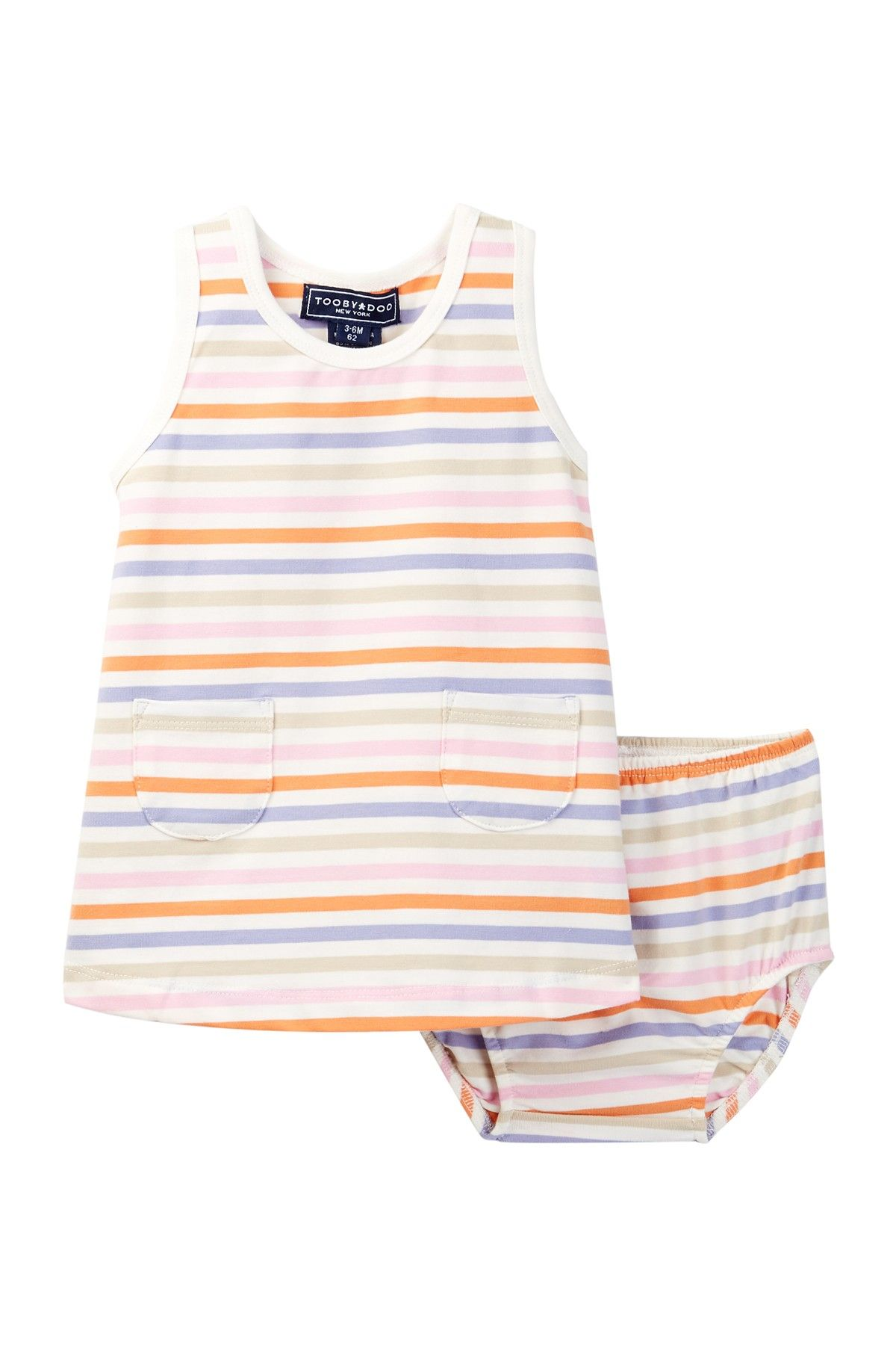 Toobydoo Pastel Striped Dress Baby Girls at Nordstrom Rack Free