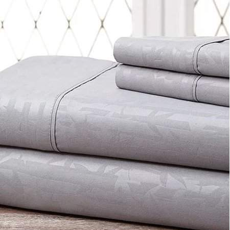 Hotel By K Bros Co Luxury Home 4 Piece Bamboo Embossed Bed Sheet