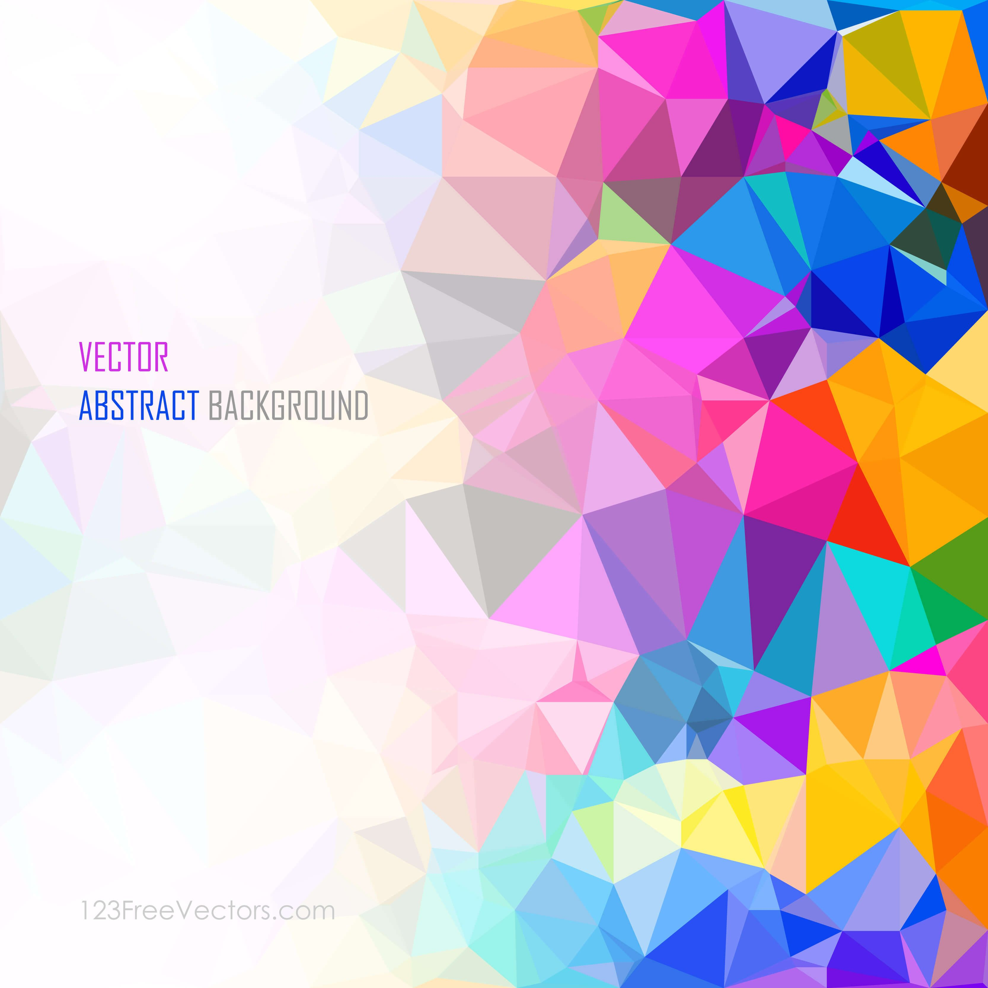 colorful abstract geometric polygon background vector