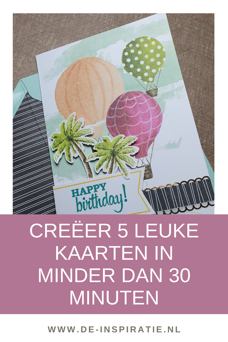 Creëer 5 super leuke kaarten met de Looking up kaartenkit