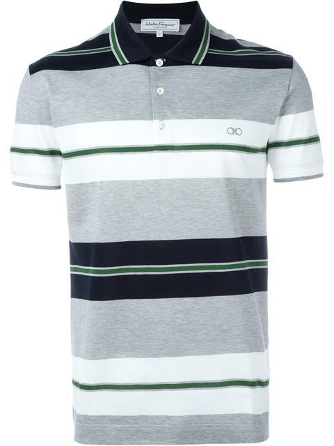 da4a6ac567f SALVATORE FERRAGAMO Striped Polo Shirt.  salvatoreferragamo  cloth  shirt