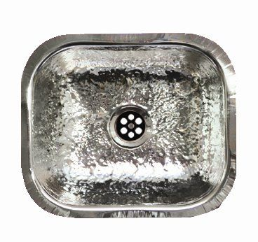 Beautiful Hammered Stainless Steel Bar Sink