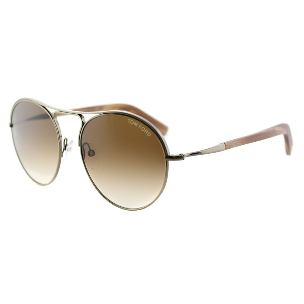 1ede8afb20 Tom Ford Jessie TF 449 33F Antiqued Gold Round Sunglasses ...