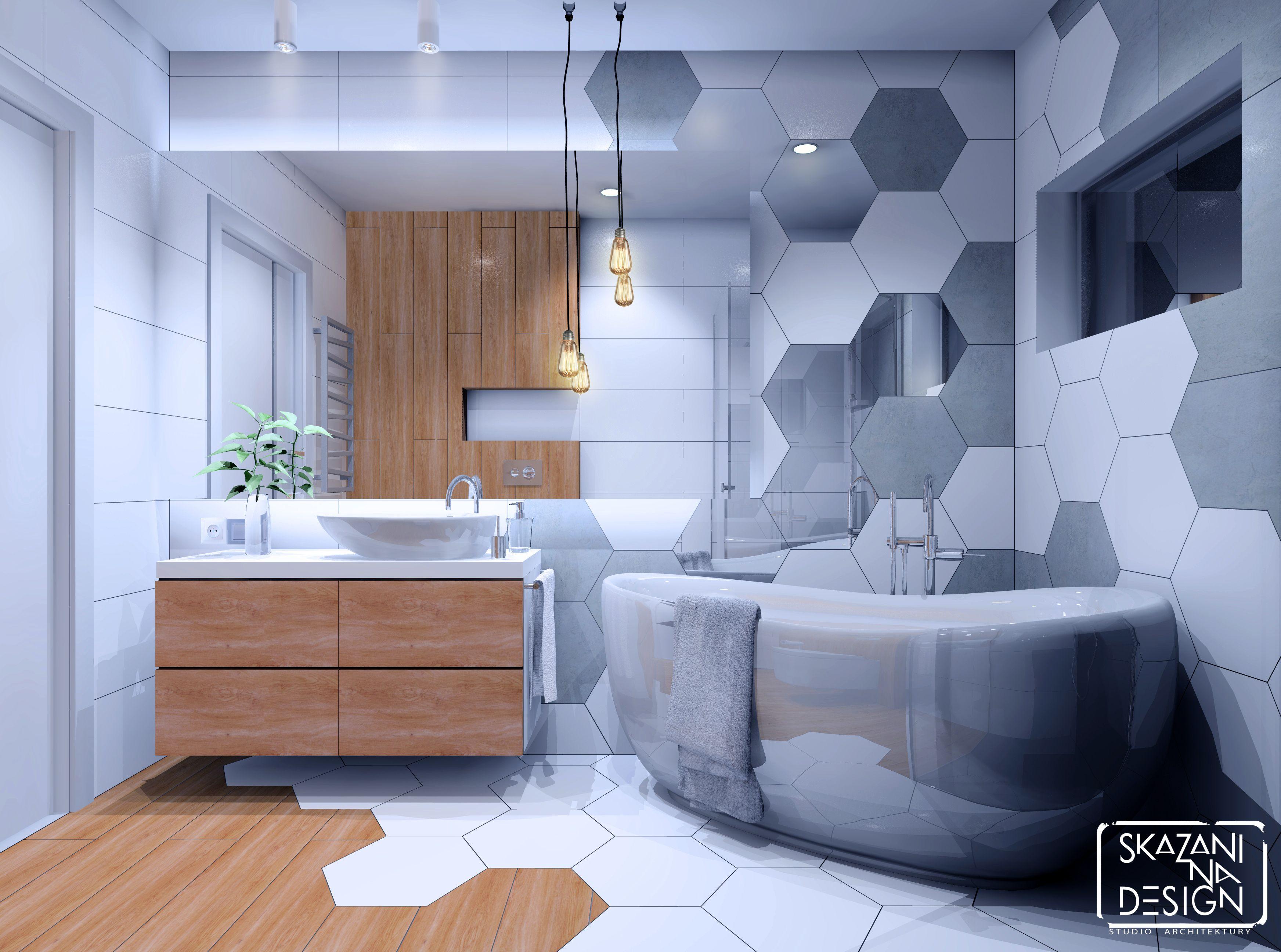 łazienka W Domu Jednorodzinnym W Gliwicach Płytki