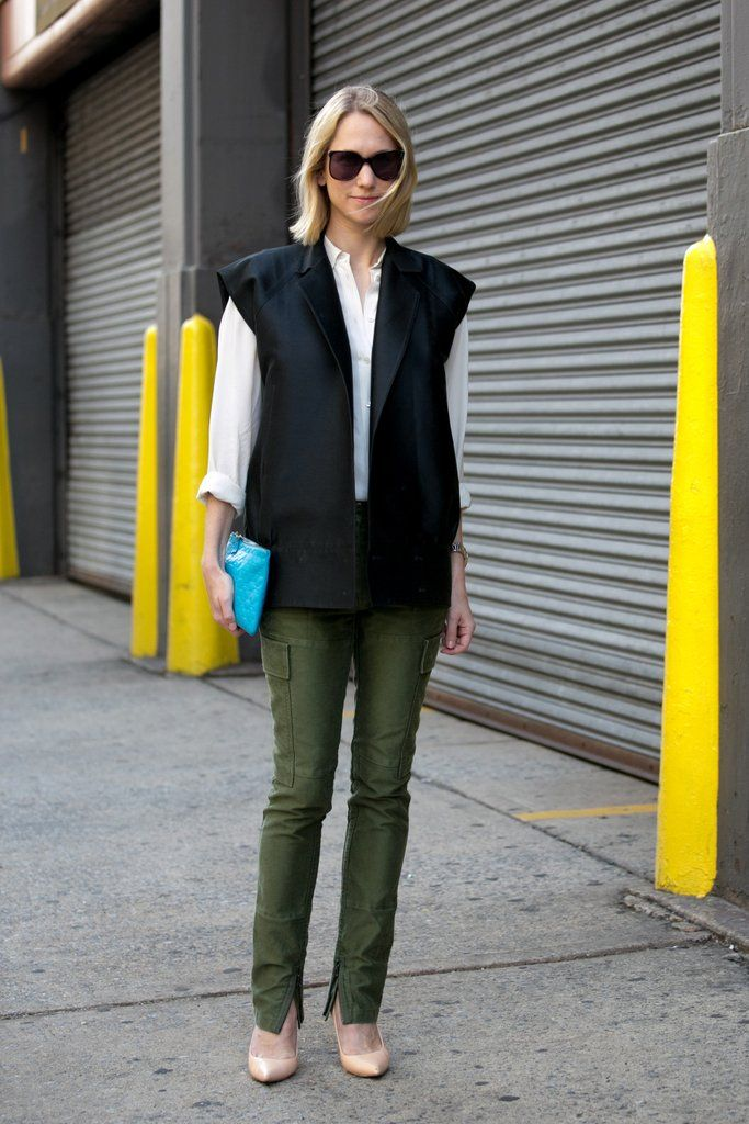 A well-cut blazer added interest to simple separates.