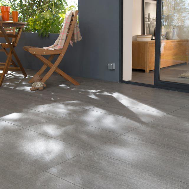 Castorama carrelage terrasse gris 30 x 60 cm oikos   17,90/m2 ...
