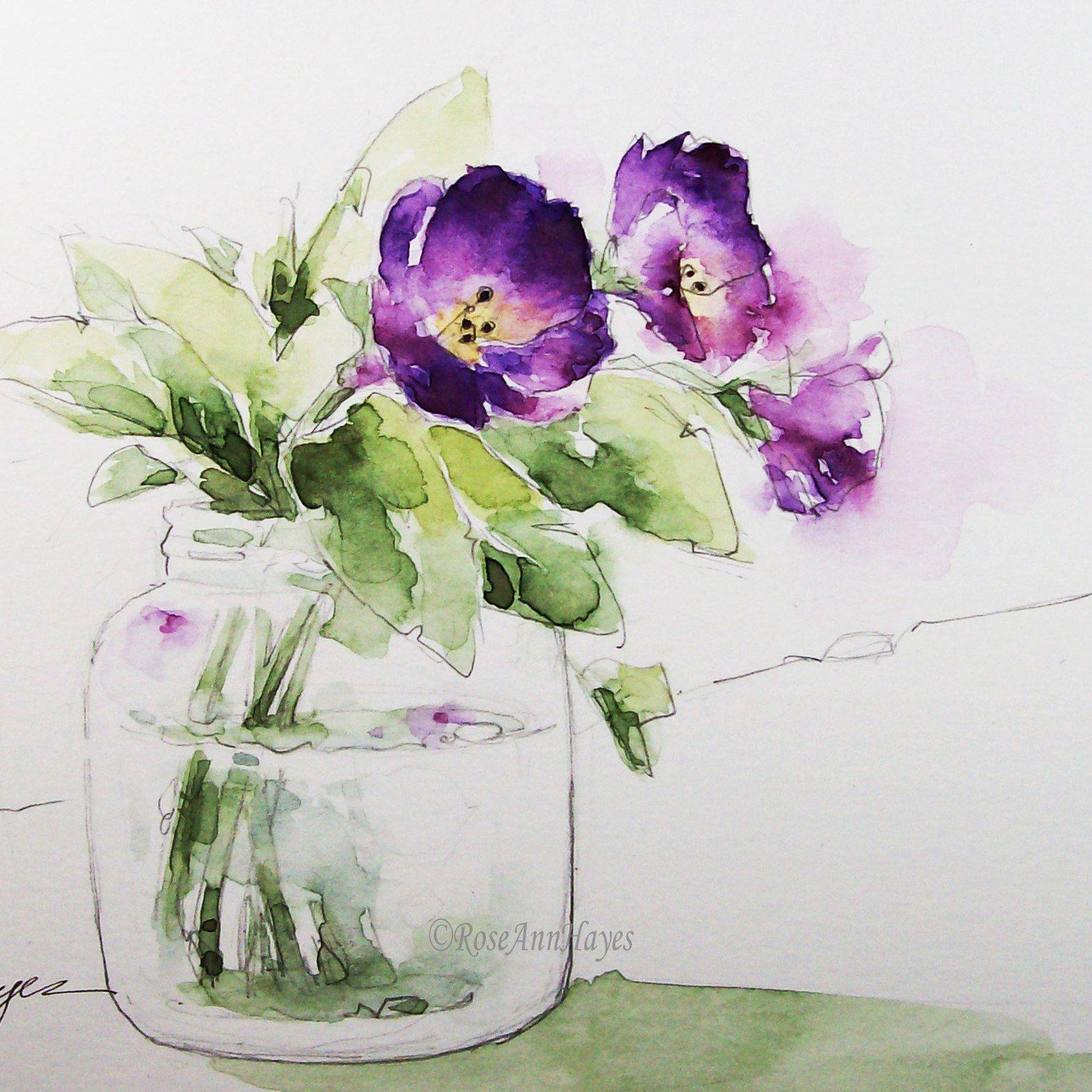 Watercolor Paintings By Roseann Hayes By Roseannhayes On Etsy