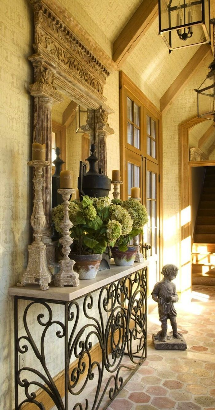Create Impact with Console Tables in the Entry | Wrought iron ...