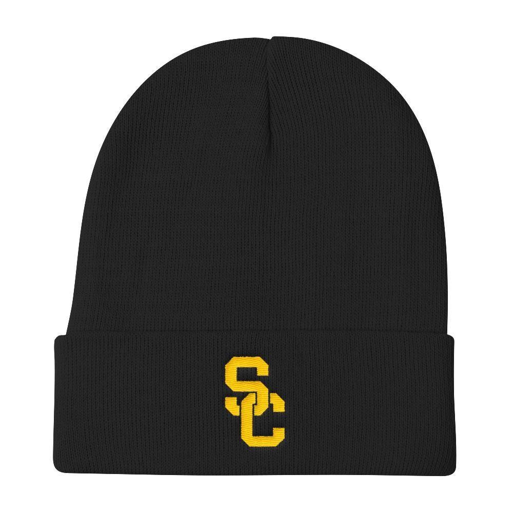 USC Trojans Football Beanie Pom Pom Knit Cap