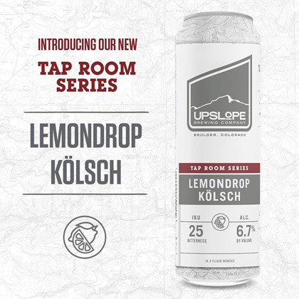 mybeerbuzz.com - Bringing Good Beers & Good People Together...: Upslope Adding Lemondrop Kölsch 19.2oz Cans To Tap...