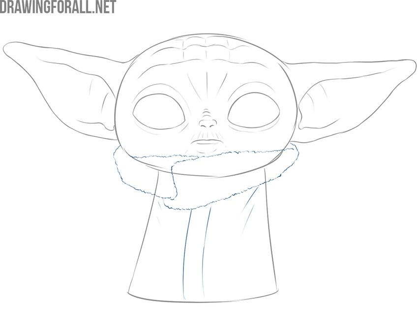 How To Draw Baby Yoda The Child Drawingforall Net Baby Drawing Yoda Drawing Drawings