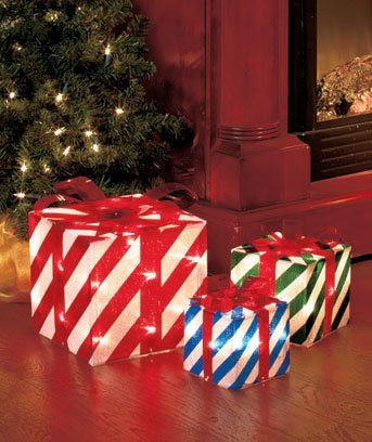 Outdoor Christmas Lighted Gift Boxes for Yard Decorating - Outdoor Christmas Lighted Gift Boxes For Yard Decorating