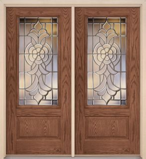 Lovely Wood and Iron Entry Door