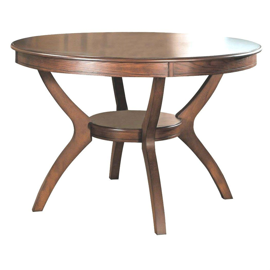 Modern Classic 48 Inch Round Dining Table In Medium Walnut Wood Finishcreate A Casual Fashion Statement Dining Table Round Dining Table Round Wood Dining Table