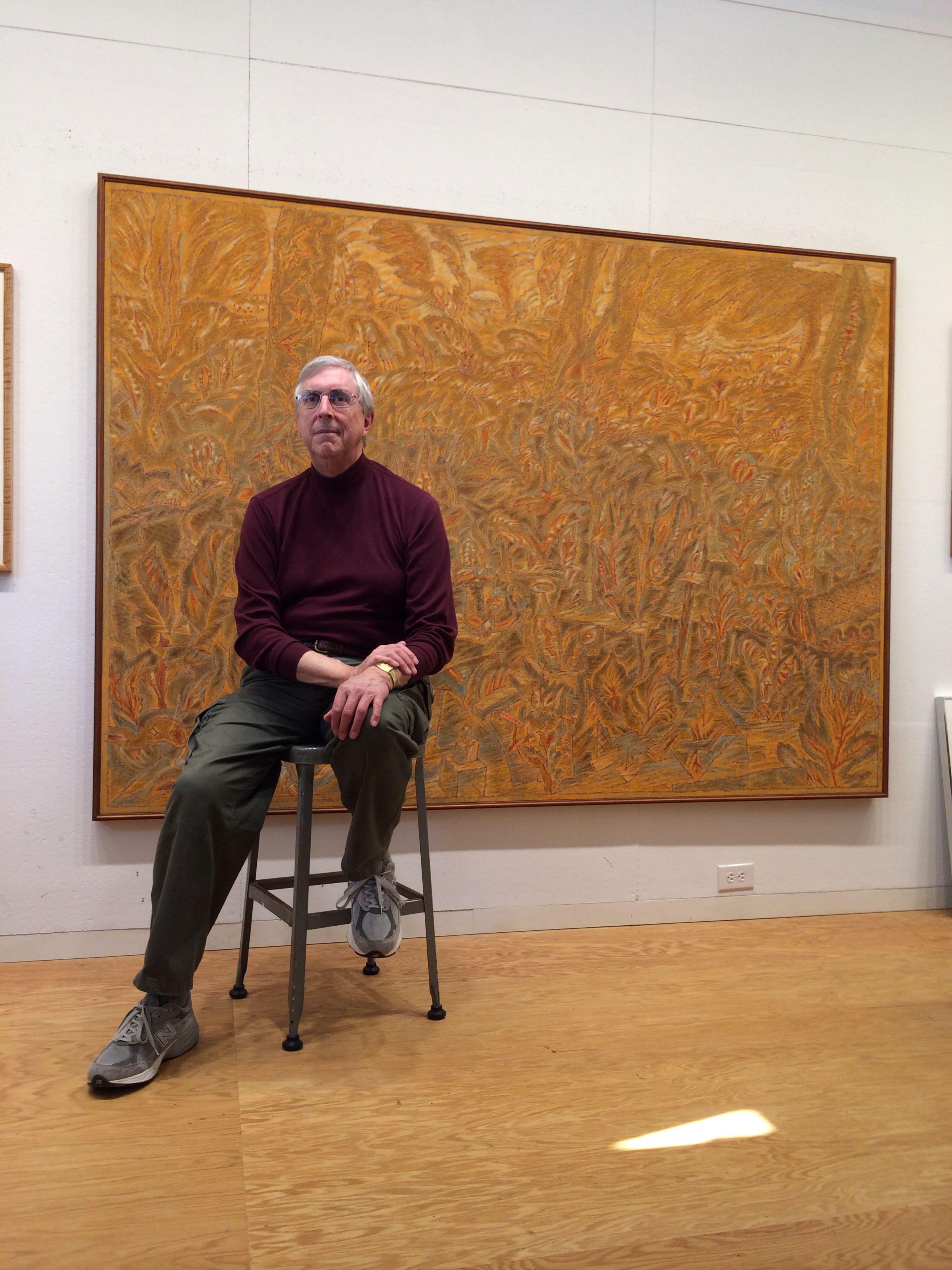 William Itter in his studio Artists n Studios in 2019