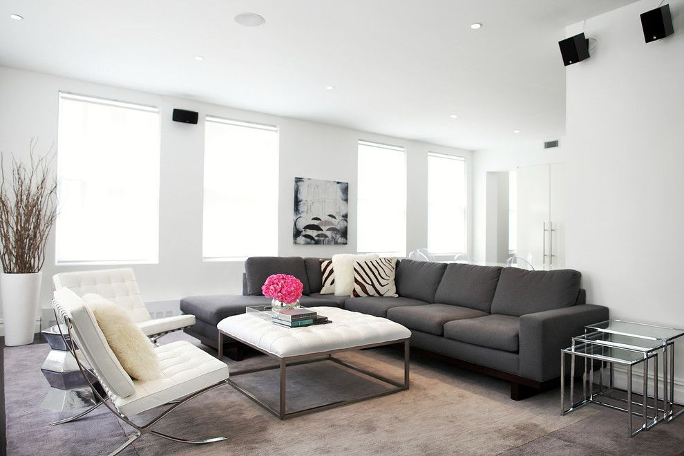 Gray Against Brown Carpet Grey Sectional CouchesTraditional Living
