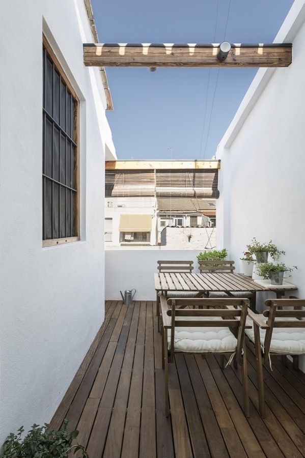 Terraza con suelo de madera terrazas en 2019 pinterest loft aticos y casas - Suelo terraza madera ...
