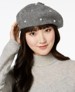 d6a2a04e6aaa4 kate spade new york Imitation Pearl Beret - Gray