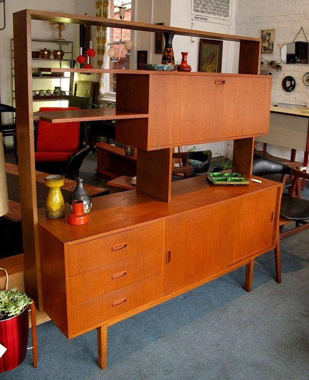 Mid century wall unit/room divider, Model No. 143, Preston ...
