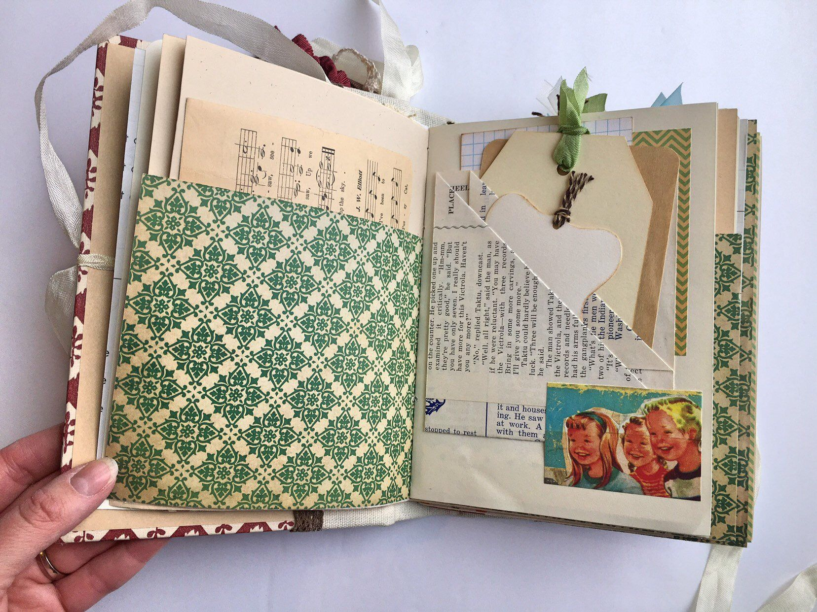 Vintage Junk Journal Mixed Media Mother/'s Day Gift Ideas Junk Journal Travel Journal,Memory Book Special Gift for Her Paper Ephemera
