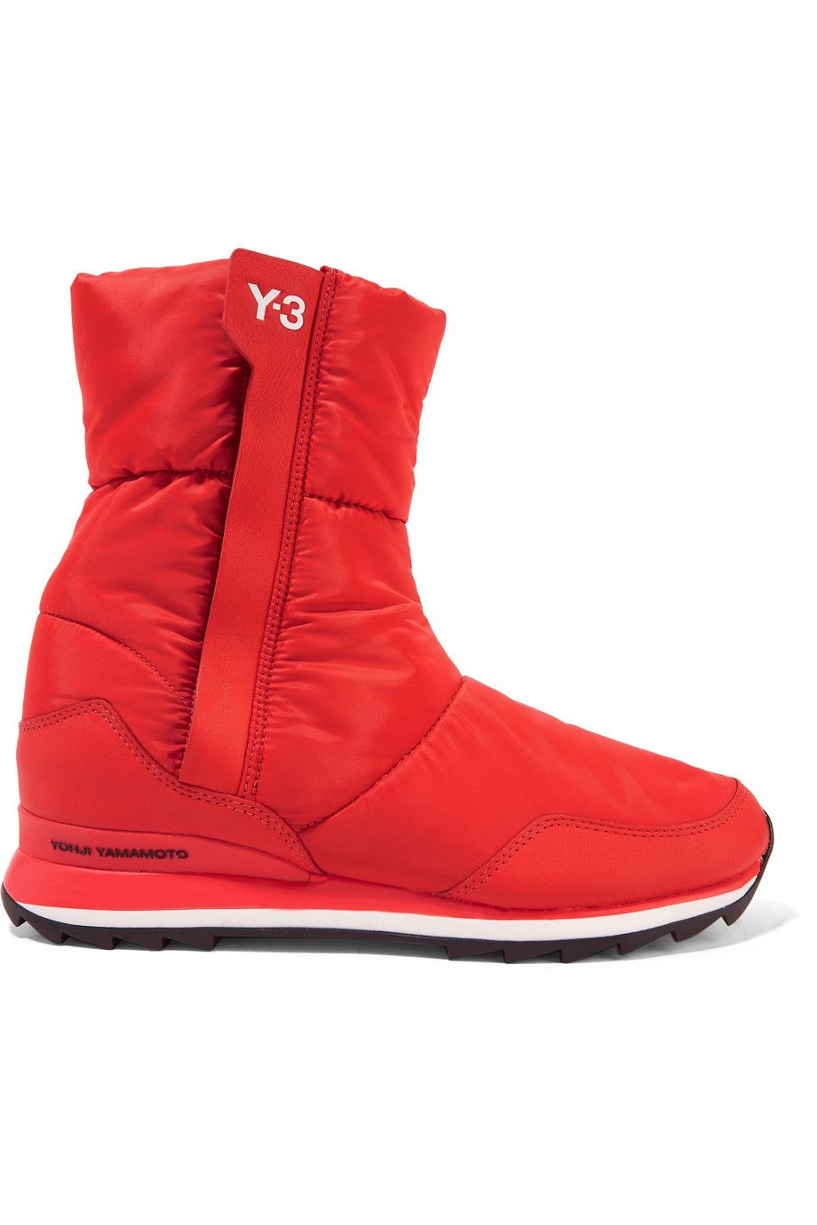 Y-3 + Adidas Originals Rhita Leather-Trimmed Quilted Shell Boots ... : adidas quilted boots - Adamdwight.com